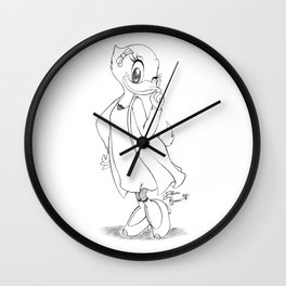 Daisy sketch - black&white vrs. Wall Clock