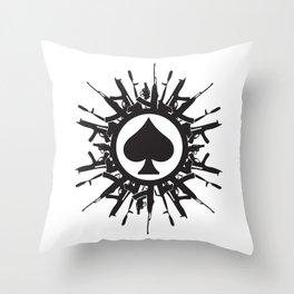 Armed Spade Throw Pillow