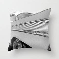 Chevrolet Bel Air 1957 - Pencil Sketch Style Throw Pillow