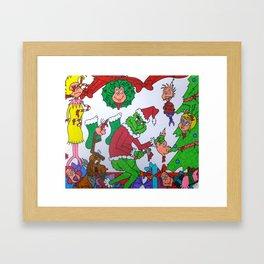 Mature Grinch Stole Christmas Framed Art Print