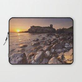 Sunrise at Kinbane Castle in Northern Ireland Laptop Sleeve