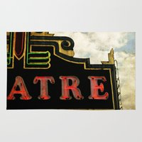 theatre Area & Throw Rugs featuring Old Theatre by Massimiliano Bertozzi