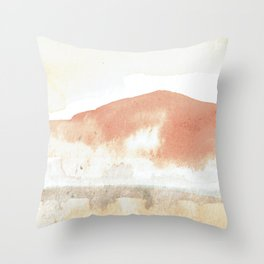 Terra Cotta Hills Abstract Landsape Throw Pillow