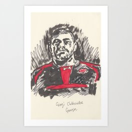 Rugby World Cup 2015 Portraits : Georgia - Giorgi Chkhaidze Art Print