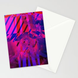 Clouds Mingle with Lines Stationery Cards