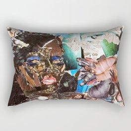 African Queen - Magazine Collage Rectangular Pillow