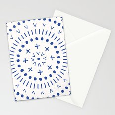 Radial - in Cobalt Stationery Cards