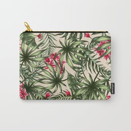 Tropical leave pattern 9.4 Carry-All Pouch