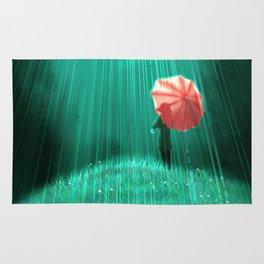 Rainy hill Rug