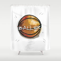Baller Shower Curtain