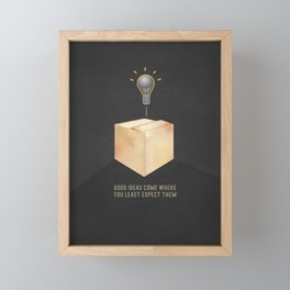 Good ideas – black Framed Mini Art Print