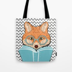 Reading Fox Tote Bag