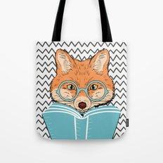 Reading Fox Tote Bag