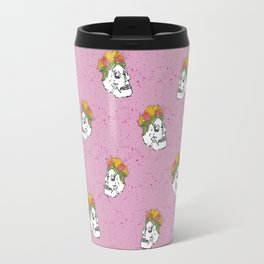 SKULL & FLOWERS - PINK Travel Mug