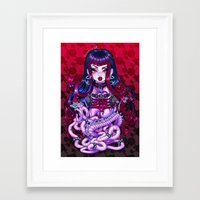 goth Framed Art Prints featuring Goth Penanggalan by Gunkiss