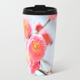 Delicate Pink & Yellow Flowers Travel Mug
