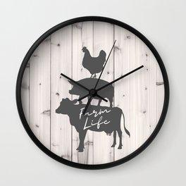 Rustic Whitewashed BarnWood Western Country Farmhouse Chic Farm life Wall Clock