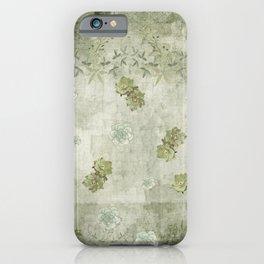 Sage Green Wallflowers iPhone Case