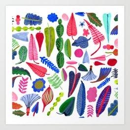colorful plants Art Print