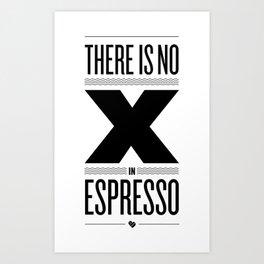 No X in Espresso – Black Art Print