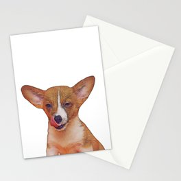 winking puppy Stationery Cards