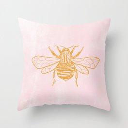 light pink bumblebee Throw Pillow