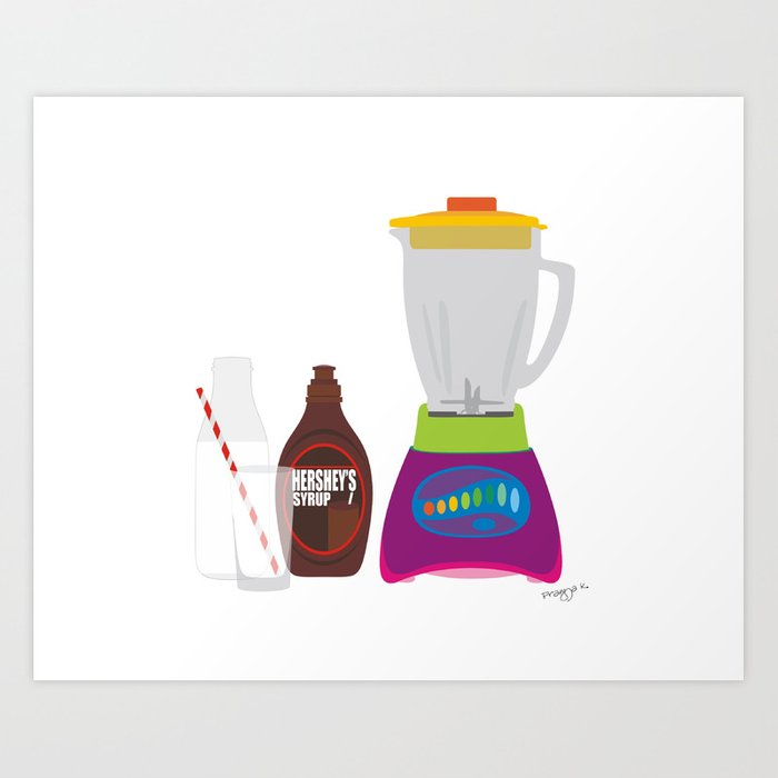 Chocolate Milk Shake Art Print