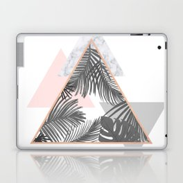 Tropical Marble Blush Pink Gray Copper Laptop & iPad Skin