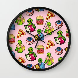 Pick and Mix of Bad Aliens Wall Clock