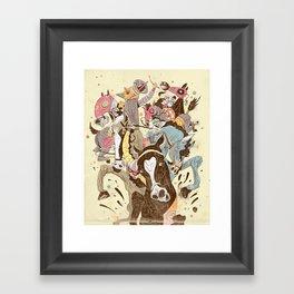The Great Horse Race! Framed Art Print