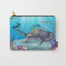 The Mermaid And The Dolphin Carry-All Pouch