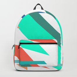 Neon Grapefruit and Electric Mint Shapes Doubled Backpack
