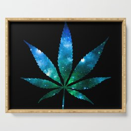 Weed : High Times Blue Green Galaxy Serving Tray