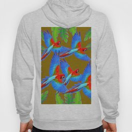 GREEN JUNGLE BLUE MACAW PARROTS Hoody