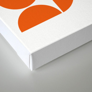 Mid Century Modern Geometric 04 Orange Leinwanddruck