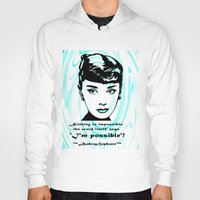 audrey Hoodies featuring Audrey by SwanniePhotoArt