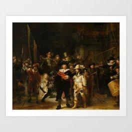 Rembrandt van Rijn - Nightwatch - Nachtwacht (1642) Art Print