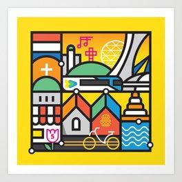 Encore Montreal by Loogart Art Print