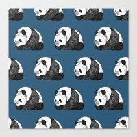 pandas Canvas Prints featuring Pandas by Diana Hope