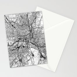 Vintage Map of Richmond Virginia (1934) BW Stationery Cards