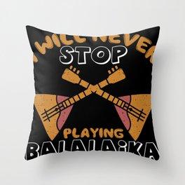 Balalaika plucked instrument busking musician Throw Pillow