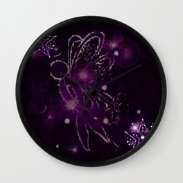 Power Purple For a Cure - Shooting Star Wall Clock