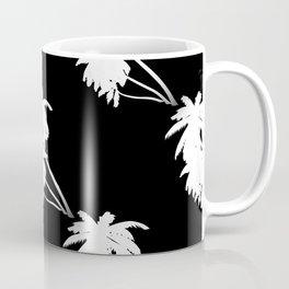 Palm Tree Pattern Black and White Coffee Mug