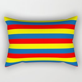 andorra Ecuador romania moldova chad colombia orkney flag stripes Rectangular Pillow