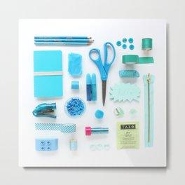 Turquoise Color Study Metal Print