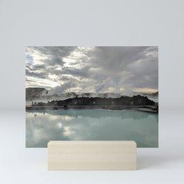 Landscape Photography   Rocks   Water Stream   Cloudy Sky   Outdoors Mini Art Print