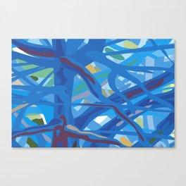 Tropic Fog in Trees Canvas Print