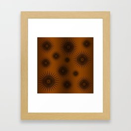 Caramel & Chocolate Star Bursts Framed Art Print