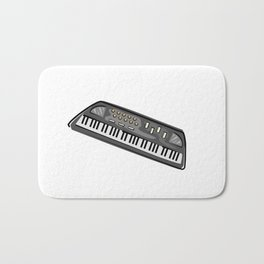 Electric Keyboard Piano Bath Mat