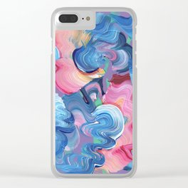 Abstraction #3 Clear iPhone Case